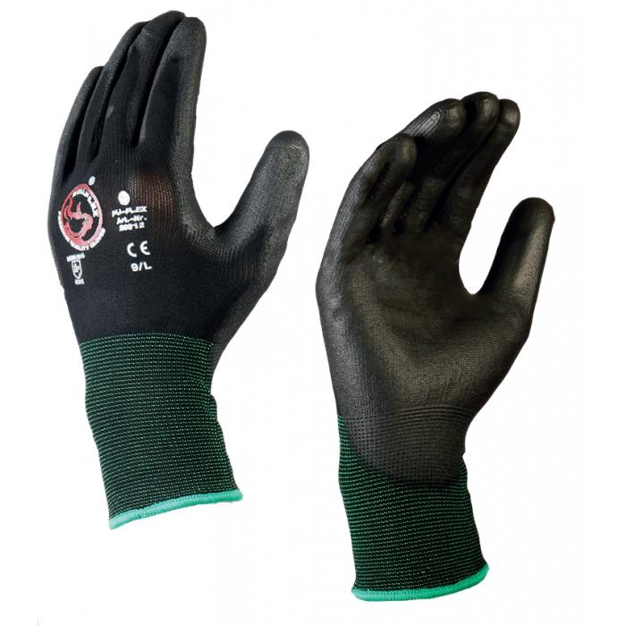 Bull-Flex PU-handske / L (09) Svart